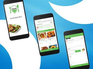 Palet food - Food delivery application
