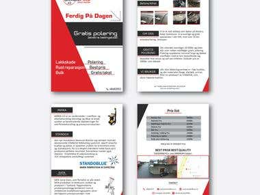Flyers, banner and postcard designs ( Scroll down )