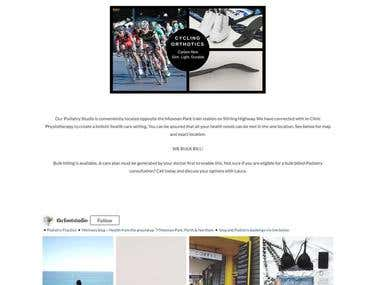 The Foot Studio - (Wordpress Website)