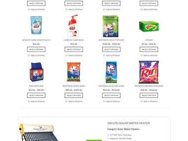 Online Grocery Store website(E-commerce-WordPress )