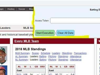 Chrome Extension to extract data from baseball-reference.com