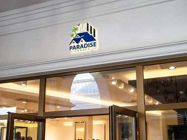Paradise Resort Logo.