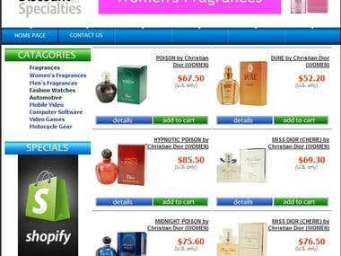 Online Store for discountspecialies