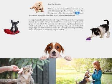 PETs Landing Page
