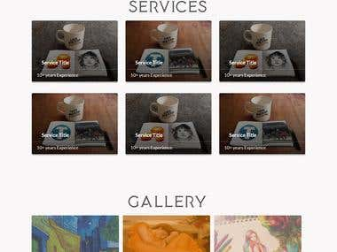 Bootstrap Responsive Web Site