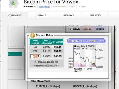 Bitcoin Price for Virwox - Chrome Extension