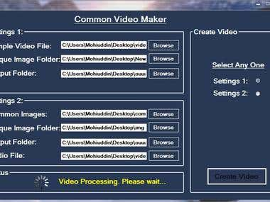 Automatic Video Creator Desktop Software