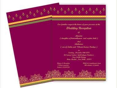 TRADITIONAL INDIAN WEDDING CARDS WITH ENVELOPE DESIGNS