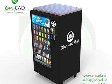 Solar powered Vending machine.
