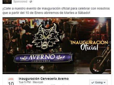 Averno Brewry - Facebook Event Marketing