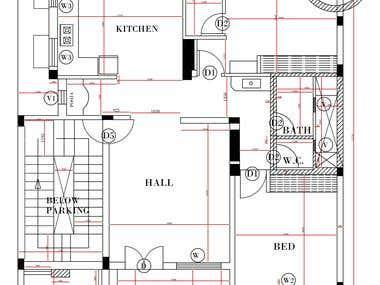 convert image to dwg floor plan.
