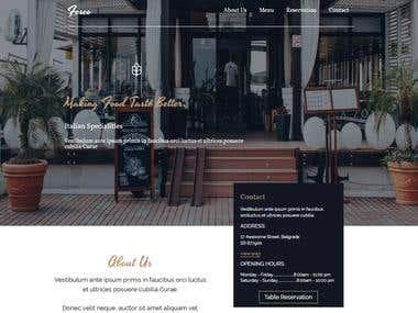 Design A Restaurant ( PSD to HTML)
