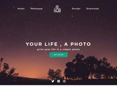 Design a PSD template by HTML, CSS, Bootstrap .