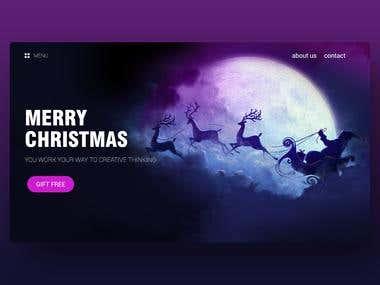 Website UI - Merry Christmas