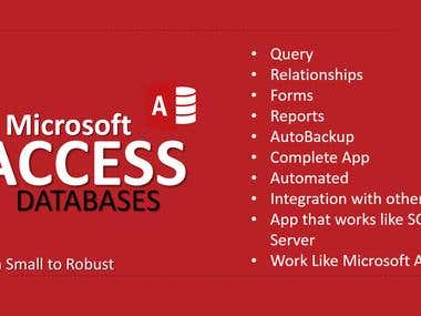 I Will Do Any Job On Microsoft Access Database