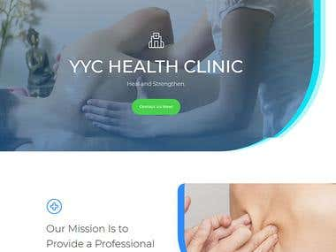 Website for YYC Health Clinic Using DIVI Theme