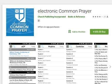Cover art electronic Common Prayer (Android App)