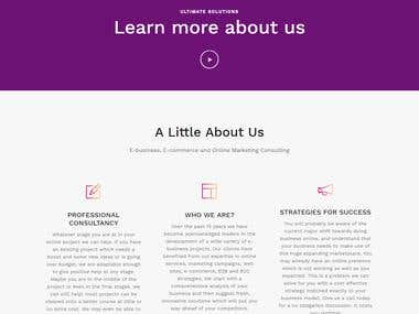 Consultancy Website - Wordpress