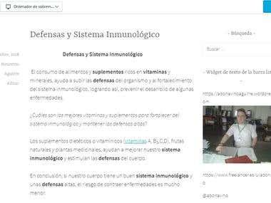 Wordpress Defensas y sistema inmunólogico