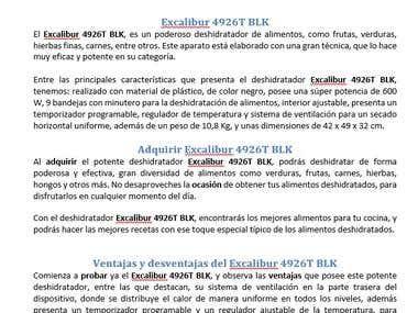 Articulo TSA. TSR o Review para AMAZON