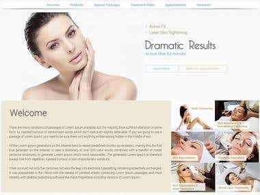 Website for Skin Care Treatment