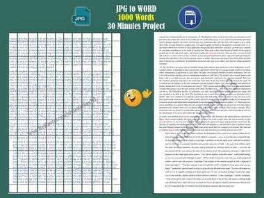 100% Typing Without using any tool (JPG to PDF)