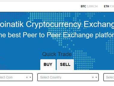 Cryptocurrency Exchange : coinatik.com
