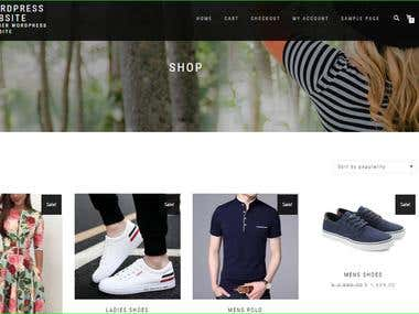 Woocommerce site (wordpress)