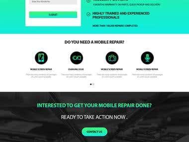 Mock up / PSD design Website