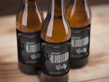 Beer Bottel Label Design