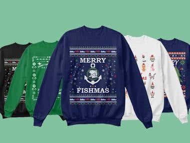 Ugly sweater design bundle for Christmas 2018