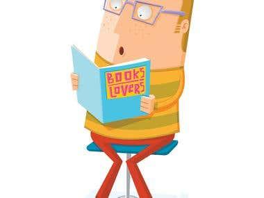 book lover read a book