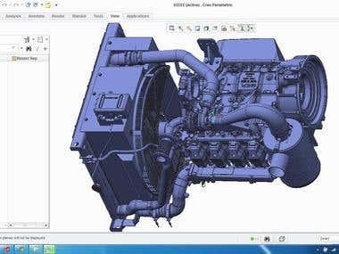 Engine - Pro-E Creo