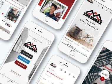Mobile app Store - Web mobile store