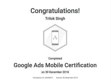 Google Ads Mobile Advertising Certification