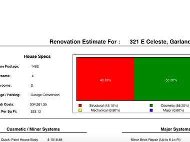 Home Repairs Estimation