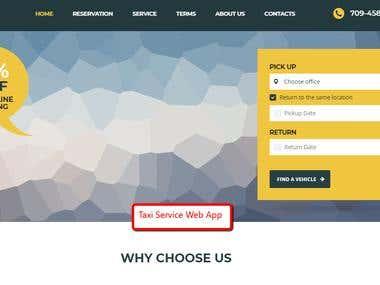 Taxi Service Web App
