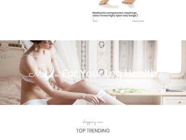 Online stockings store In Wordpress