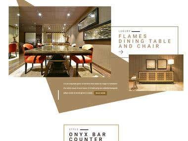 Informative Furniture Website in wordprees