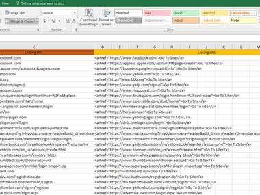 Listing urls