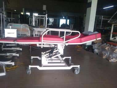 Bed to chair medical equipment