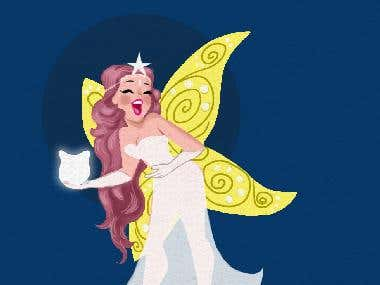 Tooth Fairy in cartoon style