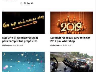 Muestra de artículos para iPadizate