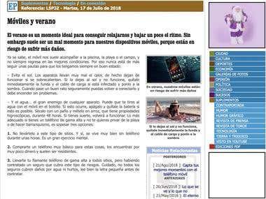 Sección de tecnología en El Periódico de Villena