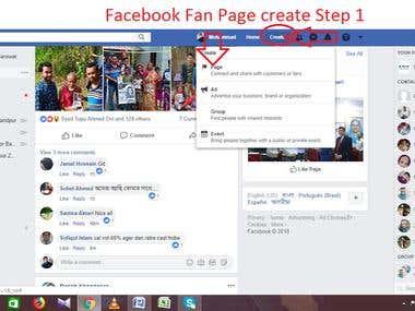 Facebook Fan page Creation