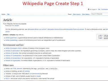 Wikipedia page creation and posting