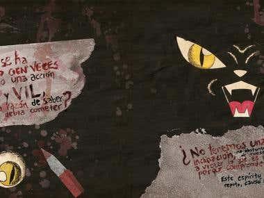 El Gato Negro: Cuento Ilustrado