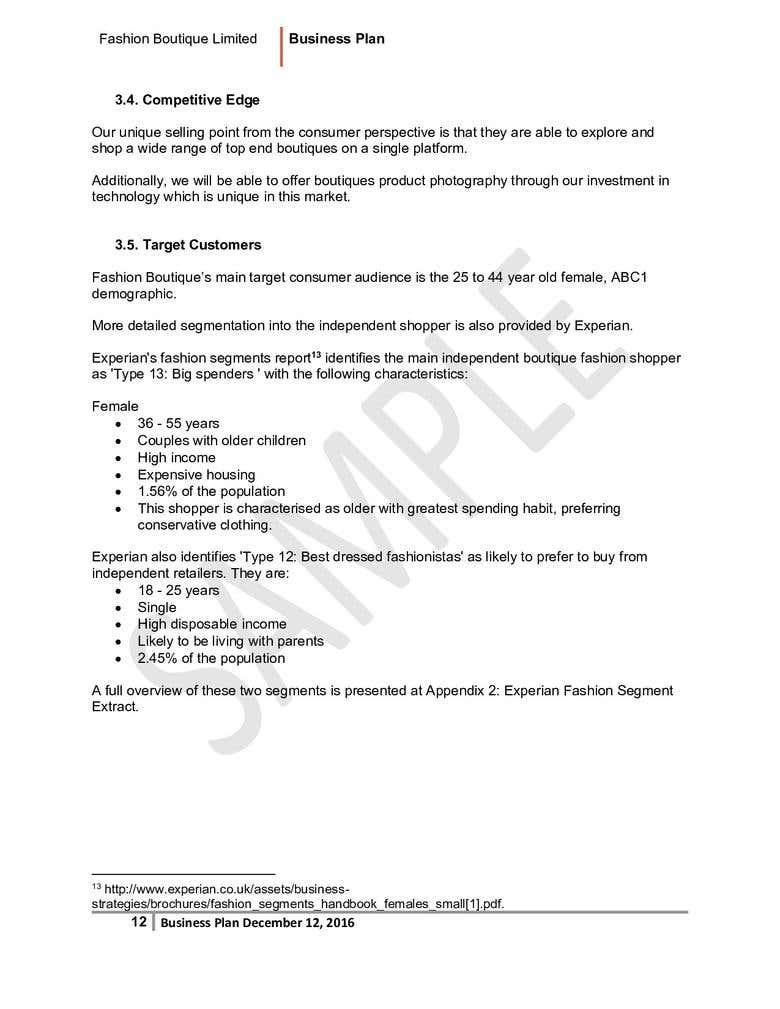 Business Plan Sample | Freelancer