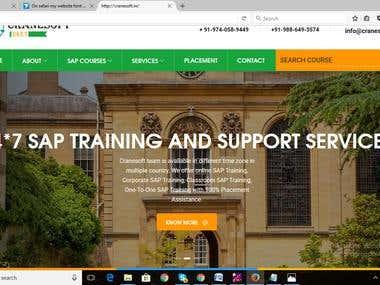 Personal institute website