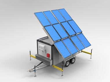 5t TRAILER FARM w/ SOLAR POWERED PANELS